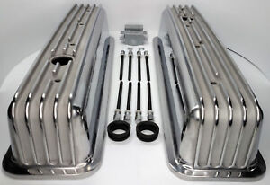 Finned Aluminum Valve Covers For Small Block Chevy 350 Vortec Tbi Tall