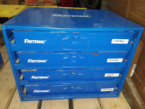 Industrial Fastenal Products 4 Drawer Parts Cabinet W Screws Retaining Rings