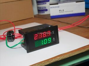 10pcsac80 300v 0 01 100a 4digital Led Display Panel Volt amp Meter With 100a Ct