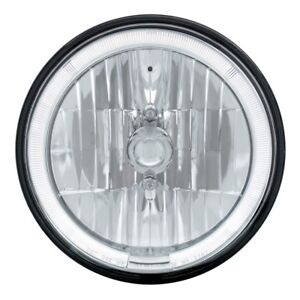2 7 Round Crystal Headlights Lamps Unique White Led Halo Glo Rings