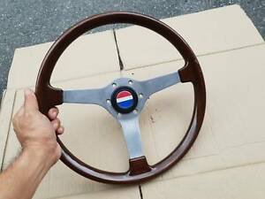 Rare Jdm Vintage Izumi Wood Steering Whell With Jdm Datsun Horn Button R32 C110