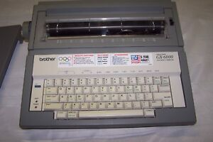 Vintage Brother Gx 6000 Electric Typewriter Tested And Working