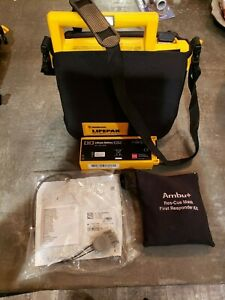 Lifepak 500 Defibrillator Aed Case New Battery New Adult Pads