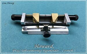 Howard Personalizer ts 92 Self centering Typeholder Hot Foil Stamping Machine