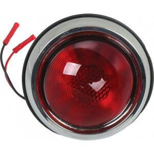 Tail Light Assemblies With Red Lens Left And Right 1950 Pontiac Style