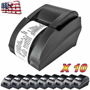 10pc Thermal Printer Usb 58mm Pos Thermal Receipt Printer 90mm sec High Speed Bt