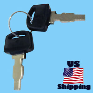 2 Yokohuma Ignition Switch Key For Yk10000e Yk8500e Yk4400e Electric Start 3 Way