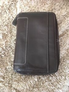 Filofax Day Planner Holborn Personal Zip Brown Leather