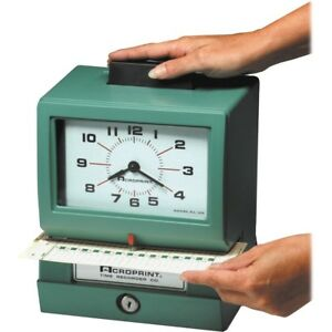Acroprint Manual Heavy duty Time Clock Card Punch stamp 1 Each