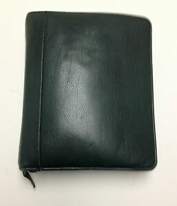 Franklin Covey Classic Leather Green Zip Around Planner Binder 1 5 8 Inch Ri