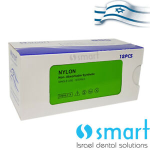Dental Nonabsorbable Surgical Suture 3 0 Nylon Monofilament Synthetic Smart