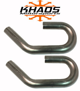 2 U J Combo 304 Stainless Mandrel Bend Exhaust Tubing Pipe Turbo Header 2 Pack