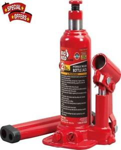 Big Hydraulic Welded Bottle Jack Red For Residential Commercial Use Heavy Duty
