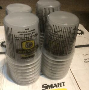 8oz Smart Quick Mix Paint Cups Qty 100 Pack Mixing Bucket 908 Auto 1 2 Pint