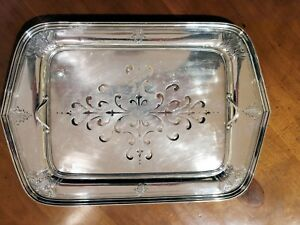 Sterling Silver Asparagus Tray With Sterling Pierced Liner By W B Durgin Co