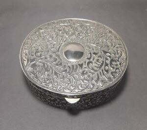 Large Silver Plated Trinket Jewellery Box