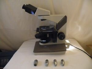 Nikon Labophot 2 Microscope Phase Contrast 2 4 Objectives No Eyepieces