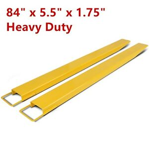 84 Steel Pallet Fork Extensions Forklift Lift Truck Slide On Clamp 84 X 5 5