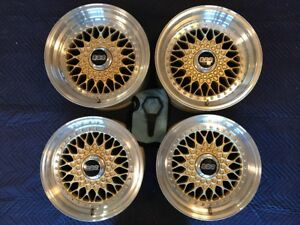 Genuine Porsche Bbs Rs012 Rs014 3 Piece Gold Magnesium Wheels 930 911 944 928