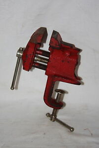 Vintage Japan 5247 Small Table Clamp Vise W Anvil
