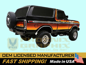 Compatible With 1979 Ford Bronco Ranger Xlt Free Wheeling Chromatic Stripe