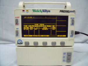 Welch Allyn Propaq Encore 202el Masimo Spo2 Ecg Printer O1