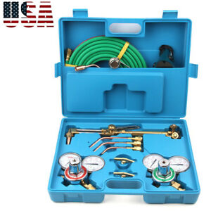 Portable Professional Gas Welding Cutting Kit Oxygen Torch Acetylene Welder Tool