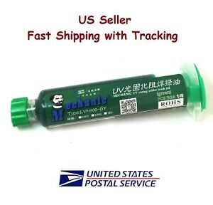 Pcb Uv Curable Solder Mask Repairing Paint Green 10ml Us Seller Fast Shipping
