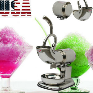 Pro Electric Ice Shaver Machine Snow Cone Maker 440lbs Crusher Shaving Device Us