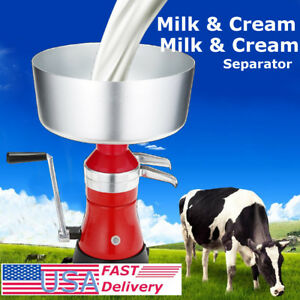 Metal Milk Cream Manual Centrifugal Separator Machine 100l h Stainless Steel Us