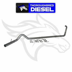 Mbrp 4 Turbo Back Exhaust For 03 07 6 0l Powerstroke Crew And Ext Cab S6212plm