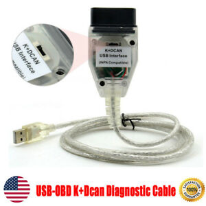Usb Obd K Dcan Diagnostic Cable Switched For Bmw Inpa Dis Sss Ncs Coding Ista
