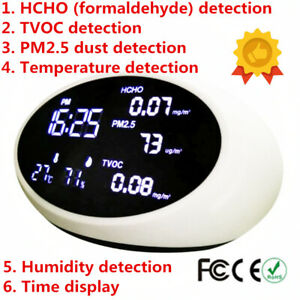Hcho Tvoc Pm2 5 Formaldehyde Detector Air Quality Detector Tester Monitor Decive