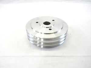 Aluminum Bbc Chevy 396 454 Swp Crank Pulley 3 Groove Satin Bpe 5006