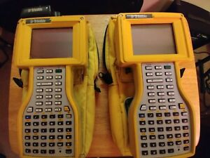 2 Trimble 45185 20 Tsce Tds Ranger Data Collector W Carry Pouches