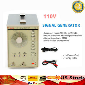 110v Signal Generator High Frequency 100 Khz To 150mhz Rf am Signal Waveform Usa