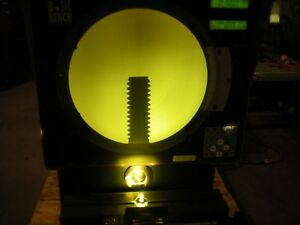 Optical Gaging Products Basic Bench Optical Comparator Powers Up As Shown