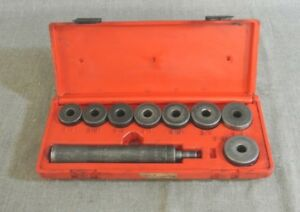 Snap On A158b Bushing Driver Heavy Duty 10pc Set In Red Case 117550 2 Nw