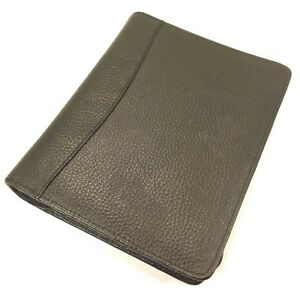 Franklin Planner Classic Size Textured Leather Sim Leather Planner Zipper