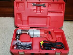 Milwaukee 1 2 Right Angle Electric Drill Driver Kit Model 1107 1 With Case