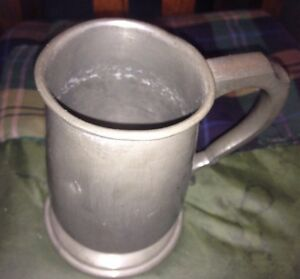 Antique Atkin Brothers Of Sheffield Pewter Mug Some Wear