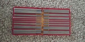 Vintage Fisher Pee Dee Thread Measuring Wires Tool Set New Old Stock