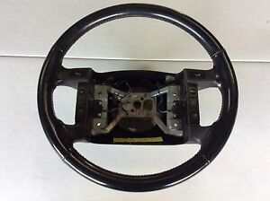 1994 1996 Ford Truck F150 Bronco Steering Wheel Xlt Leather Type Read Full Descr