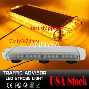 40led Emergency Strobe Light Bar For Car Plow Tow Truck Roof Top Solid Yellow Us