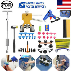 Auto Paintless Dent Repair Puller Lifter Pdr Tools Hammer Removal Glue Gun Kit