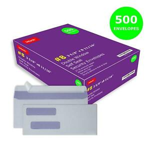 Double Window Self Seal Security Check Envelopes 8 Ideal For Quickbooks Checks