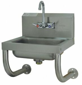 Advance Tabco Stainless Steel Hand Sink With Faucet Wall Mounting Type Silver