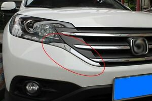 Exterior Grille Side Cover Chrome Molding Abs For Honda Cr v Crv 2012 2013 2014
