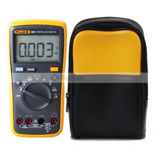 Fluke 15b Digital Multimeter Tester Dmm With Tl75 Test Leads Soft Case