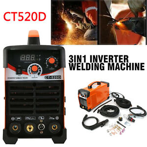 Plasma Cutter Dc Tig stick Welder 3 In 1 Ct520d Multi Process Welder 110 230v
